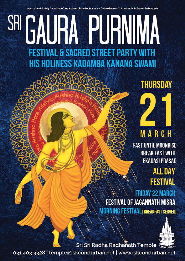 Sri Gaura Purnima Festival 2019