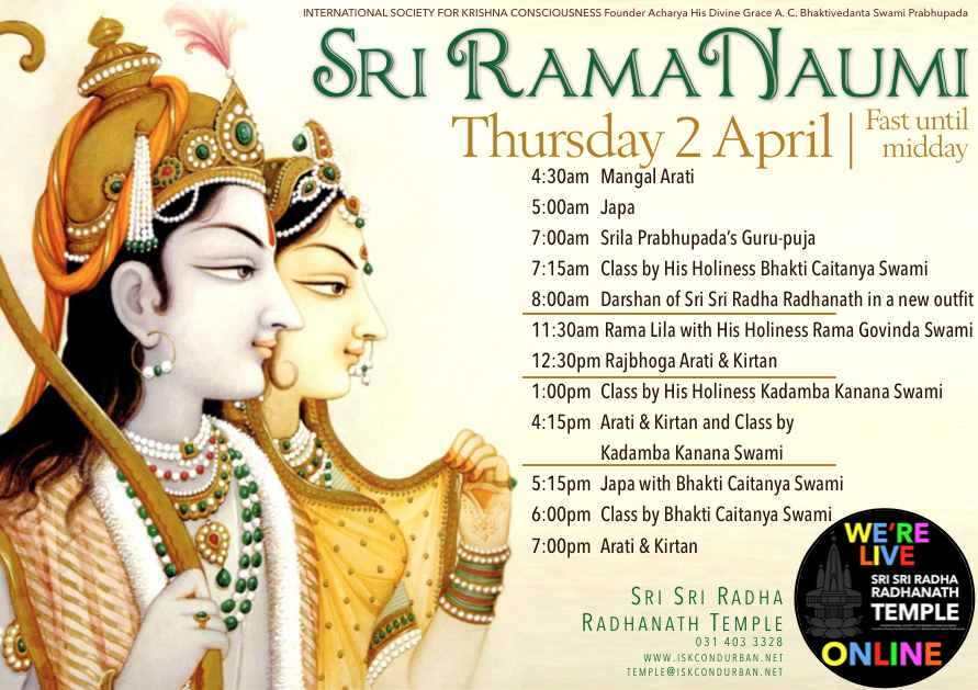Celebrating Sri Rama Naumi Online!